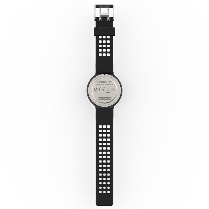 Montre chronomètre de course à pied homme W900 noire reverse - 1139505