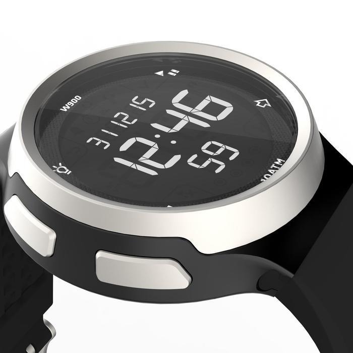 Montre chronomètre de course à pied homme W900 noire reverse - 1139506