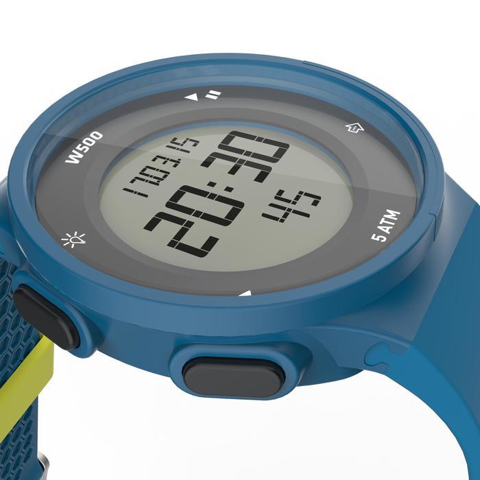 Montre chronomètre de course à pied homme W500 M noire reverse - 1139539