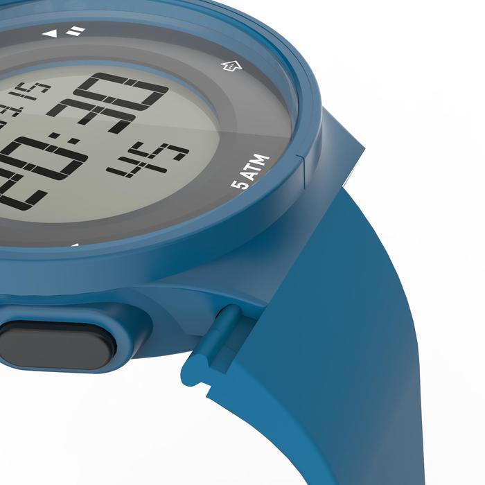 Montre chronomètre de course à pied homme W500 M noire reverse - 1139544