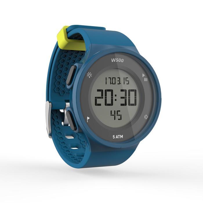 Montre chronomètre de course à pied homme W500 M noire reverse - 1139555
