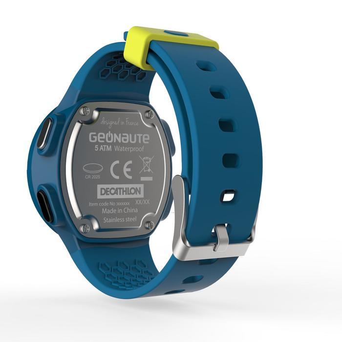 Montre chronomètre de course à pied homme W500 M noire reverse - 1139561