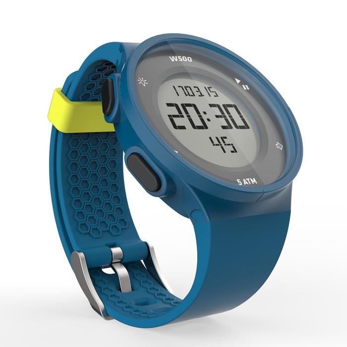 Montre chronomètre de course à pied homme W500 M noire reverse - 1139580
