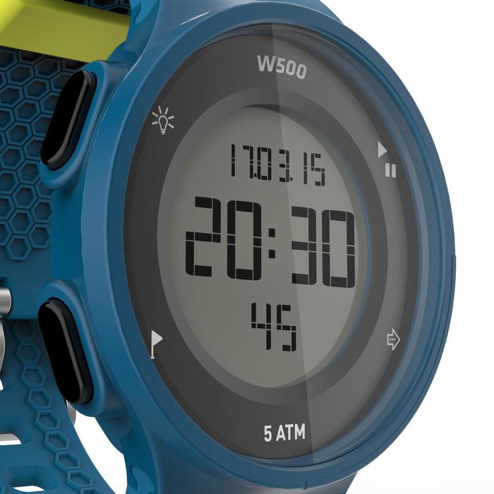 Montre chronomètre de course à pied homme W500 M noire reverse - 1139621