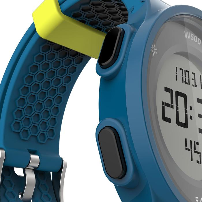 Montre chronomètre de course à pied homme W500 M noire reverse - 1139653