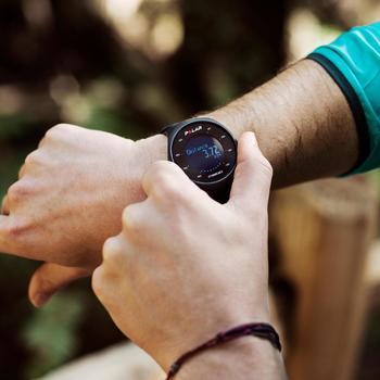 Montre GPS de course à pied avec cardio au poignet M200 noir (M/L) - 1139680