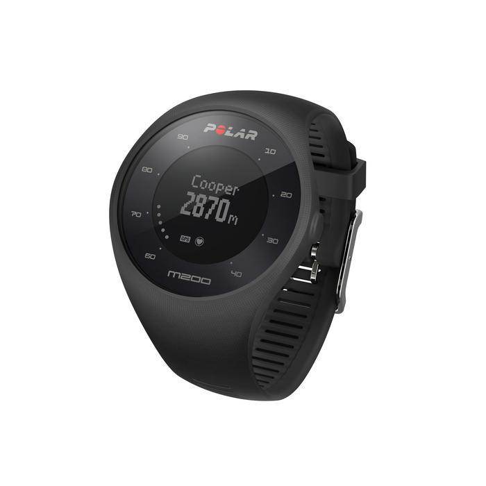 Montre GPS de course à pied avec cardio au poignet M200 noir (M/L) - 1139681