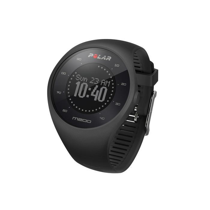Montre GPS de course à pied avec cardio au poignet M200 noir (M/L) - 1139691