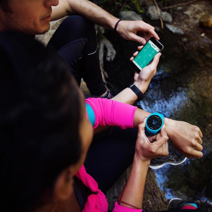 Montre GPS de course à pied avec cardio au poignet M200 noir (M/L) - 1139692