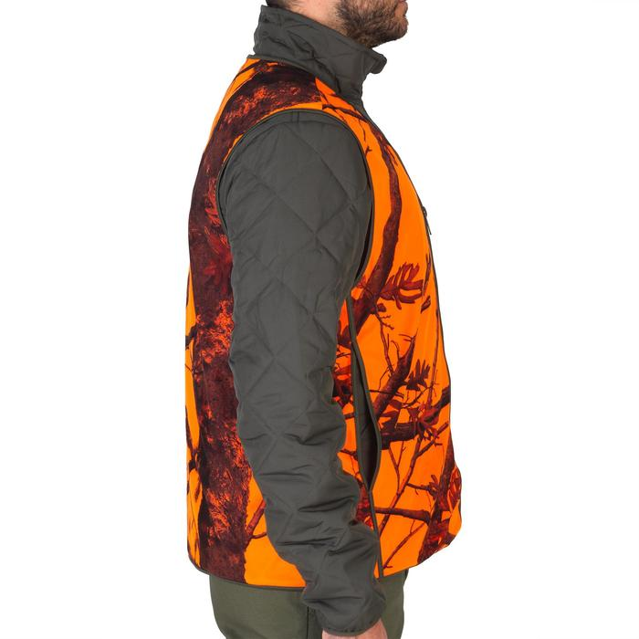 Jagdweste Compact camouflage orange