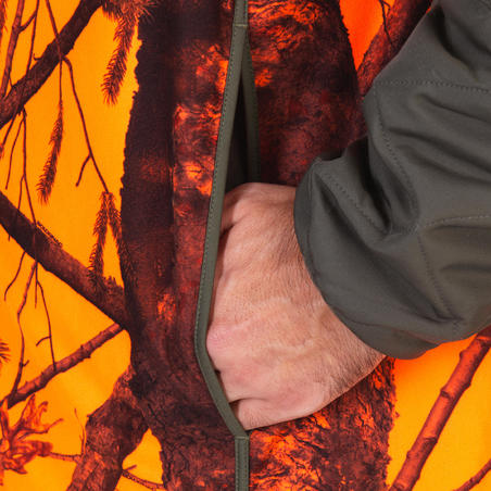 Gilet chasse Compact fluo silencieux