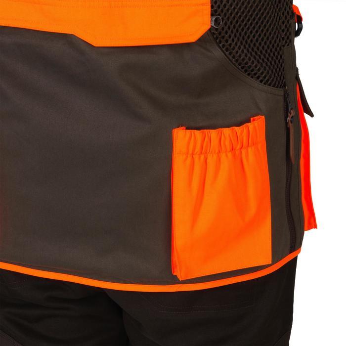 Gilet chasse 520 marron fluo - 1139962