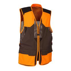 GILET CHASSE 520 MARRON ORANGE