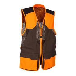 Gilet chasse 520 marron fluo