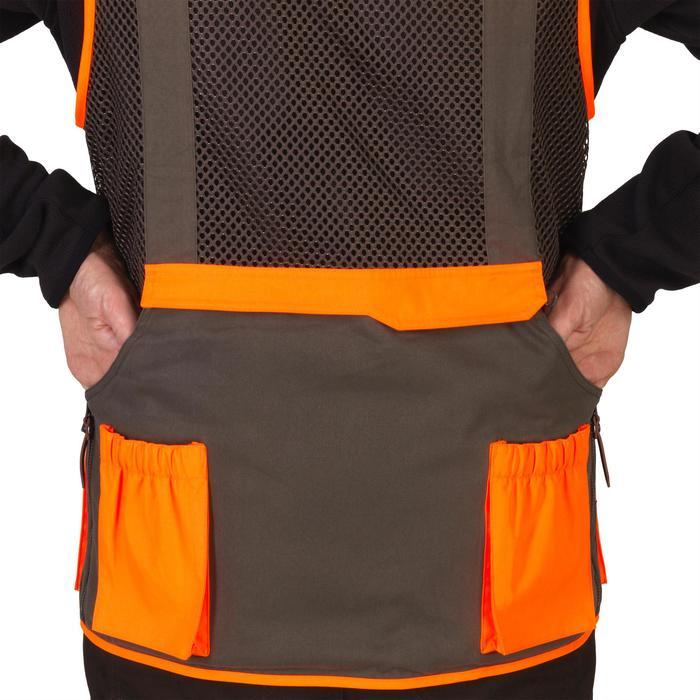 Gilet chasse 520 marron fluo - 1139965