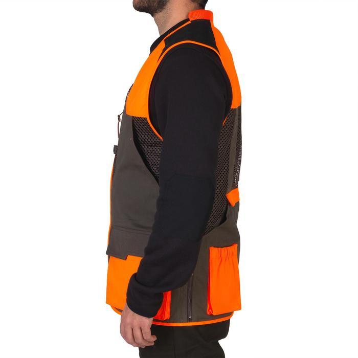 Gilet chasse 520 marron fluo - 1139970