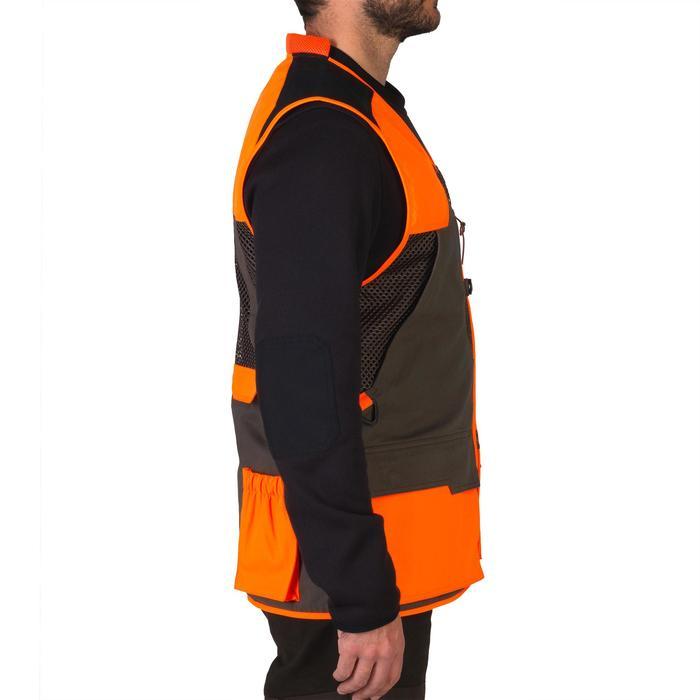 Gilet chasse 520 marron fluo - 1139971