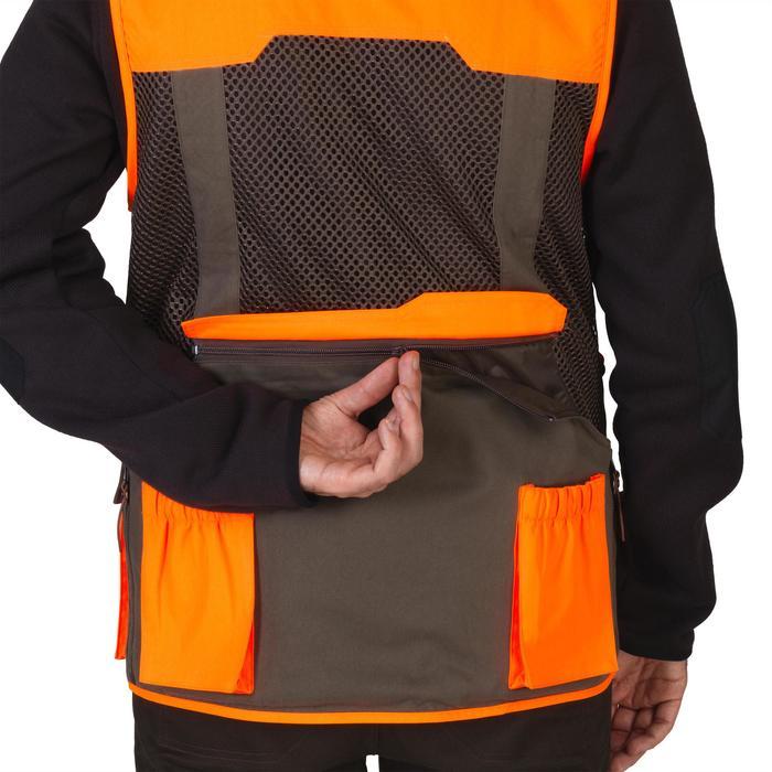 Gilet chasse 520 marron fluo - 1139974