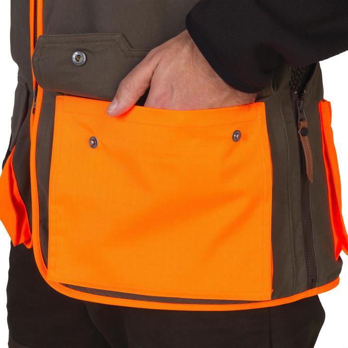 Gilet chasse 520 marron fluo - 1139975