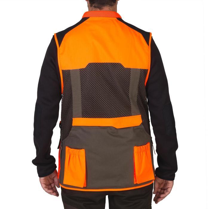 Gilet chasse 520 marron fluo - 1139982
