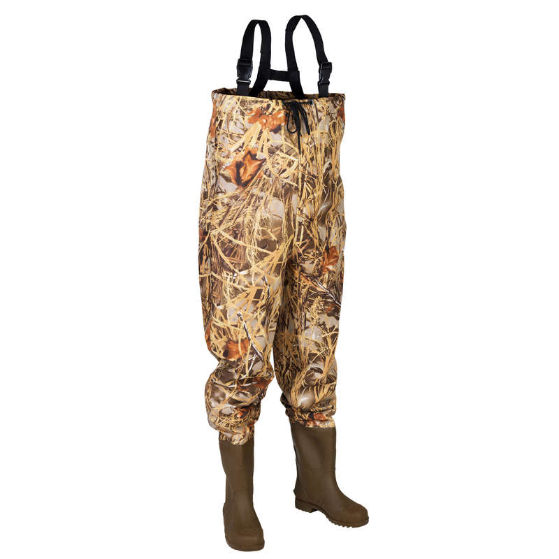 CAMOUFLAGE REEDS CLOTHING Shooting and Hunting - REED CAMO WADERS DAIWA - Hunting Types