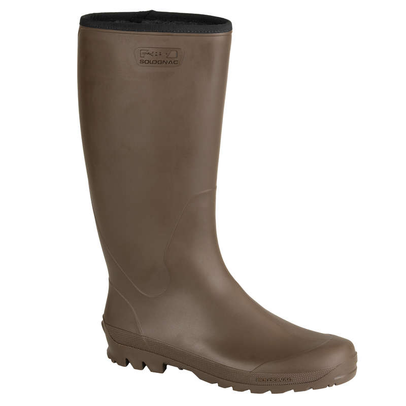 INSULATED WELLIES Shooting and Hunting - WARM GLENARM BOOTS 100 BROWN SOLOGNAC - Shooting and Hunting