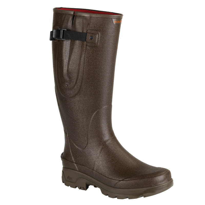 INSULATED REINFORCED WELLIES Shooting and Hunting - RENF 520 WARM WELLIES BROWN SOLOGNAC - Shooting and Hunting