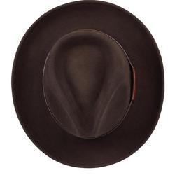 Chapeau chasse feutre marron