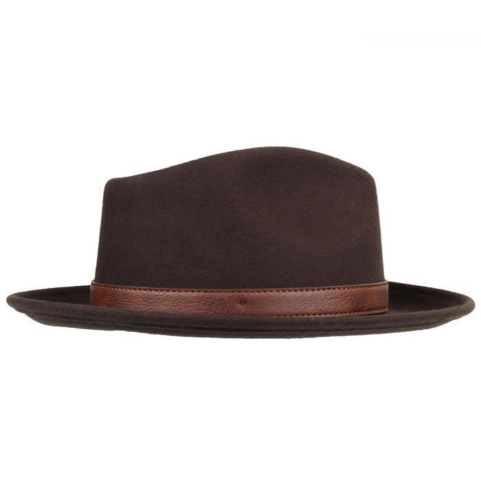 Sombrero Caza Solognac Fieltro Calido Marrón Perlante