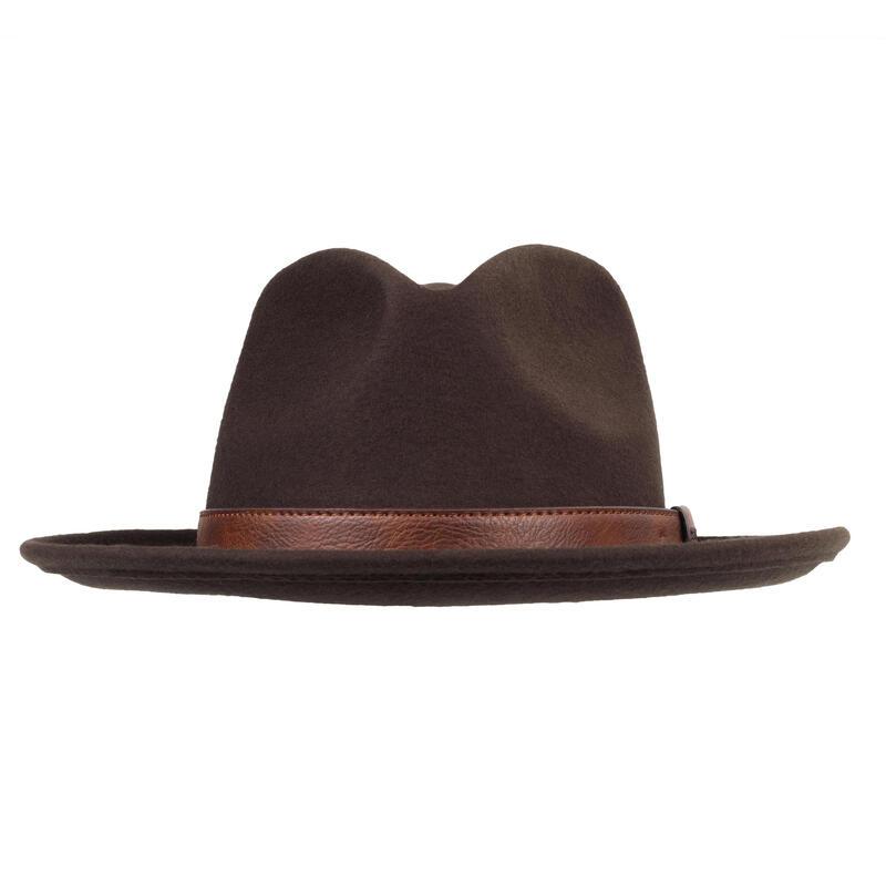 Chapeau chasse déparlant feutre 100 marron