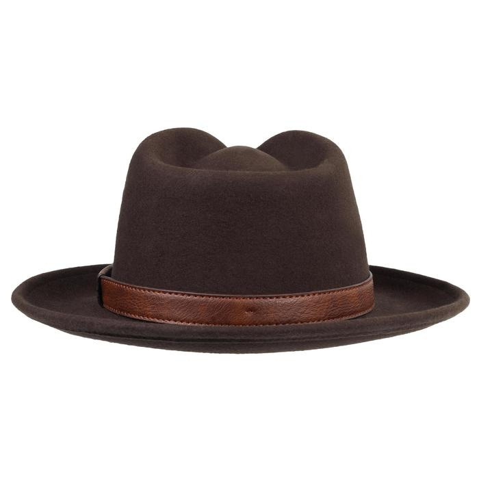 Sombrero de caza de fieltro marrón