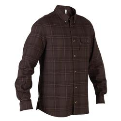 Camisa manga larga caza 100 marrón