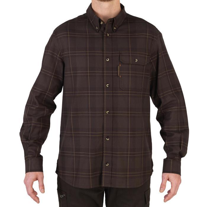 Overhemd met lange mouwen voor de jacht 500 bruin