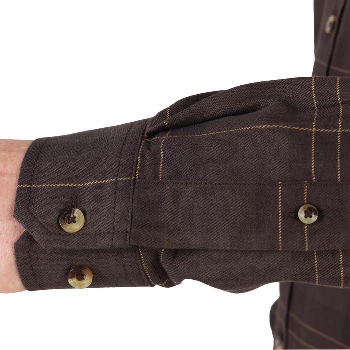 Chemise chaude manches longues chasse 500 marron