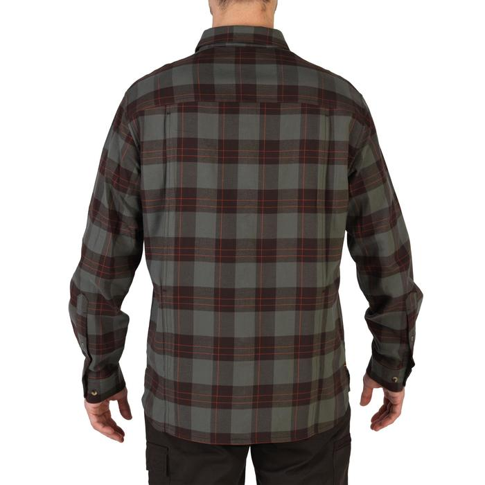 Chemise manches longues chasse 100 vert