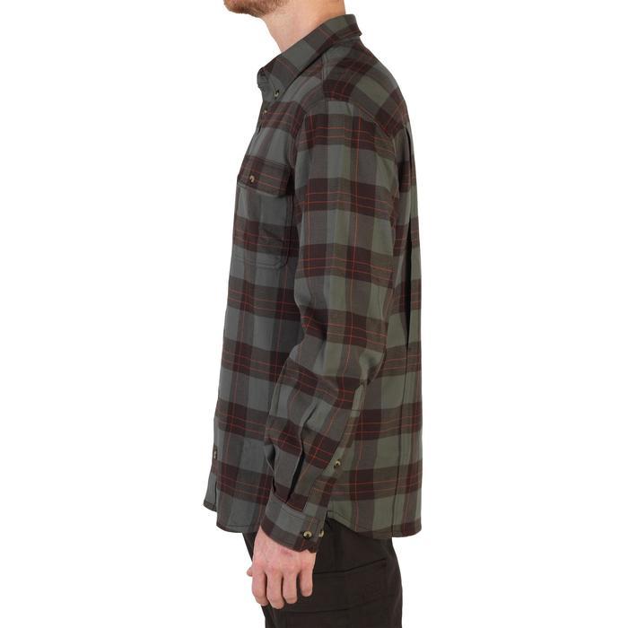 Overhemd 500 met lange mouwen voor de jacht groen