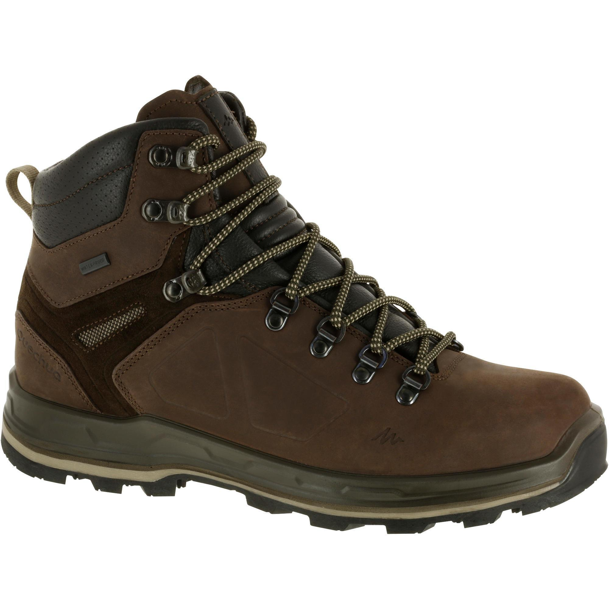 chaussure de trekking trek 500 homme marron quechua. Black Bedroom Furniture Sets. Home Design Ideas