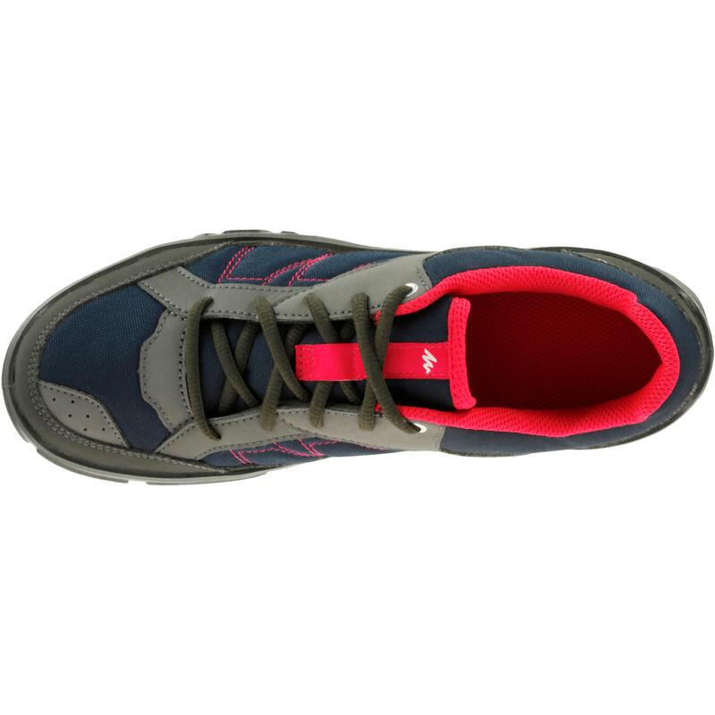 Zapatillas de senderismo en la naturaleza NH100 azul rosadas mujer