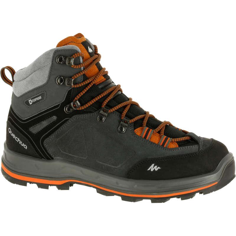 MEN SHOES MOUNTAIN TREK Trekking - Trek 100 Mens Waterproof Walking Boots - Grey  FORCLAZ - Trekking