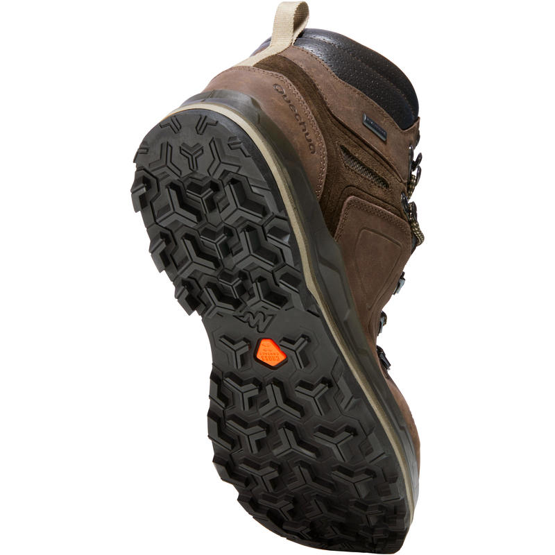 Giày đi bộ trekking TREK 500 cho nam - Nâu