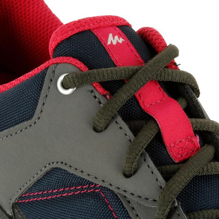 Zapatillas de montaña y senderismo en la naturaleza NH100 azul rosa mujer