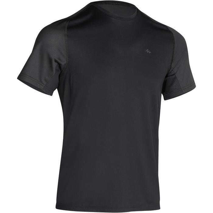 Tee Shirt Manches Courtes Randonnée Tech Fresh 100 homme Gris foncé - 1140262