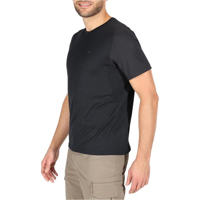 Tee Shirt Manches Courtes Randonnée Tech Fresh 100 homme Gris foncé - 1140274