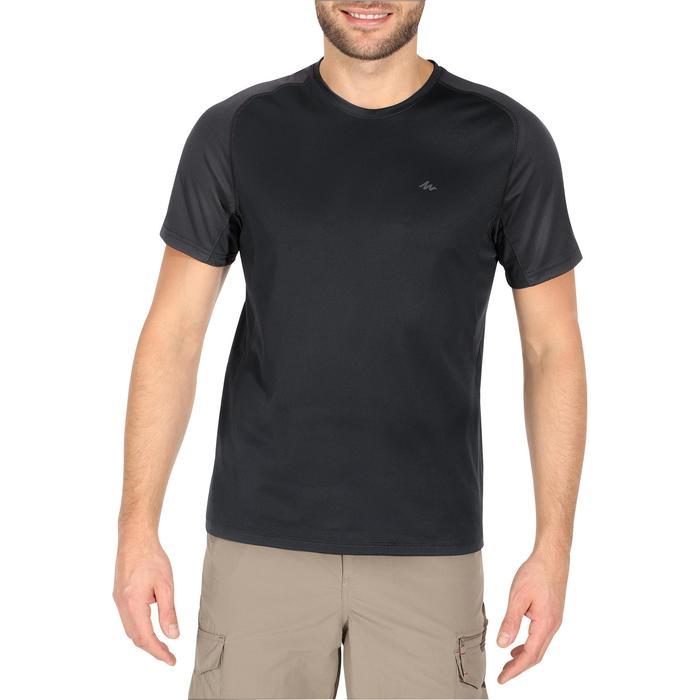 Tee Shirt Manches Courtes Randonnée Tech Fresh 100 homme Gris foncé - 1140278