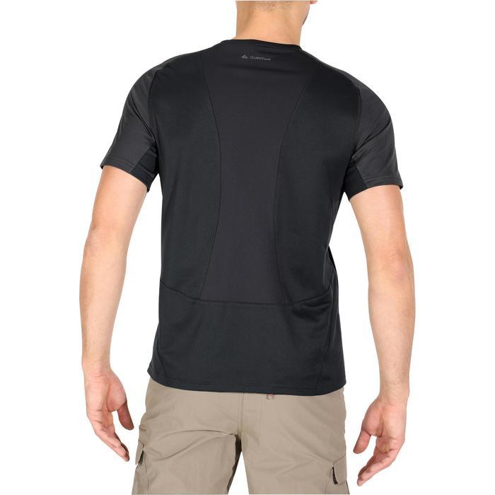 Tee Shirt Manches Courtes Randonnée Tech Fresh 100 homme Gris foncé - 1140283