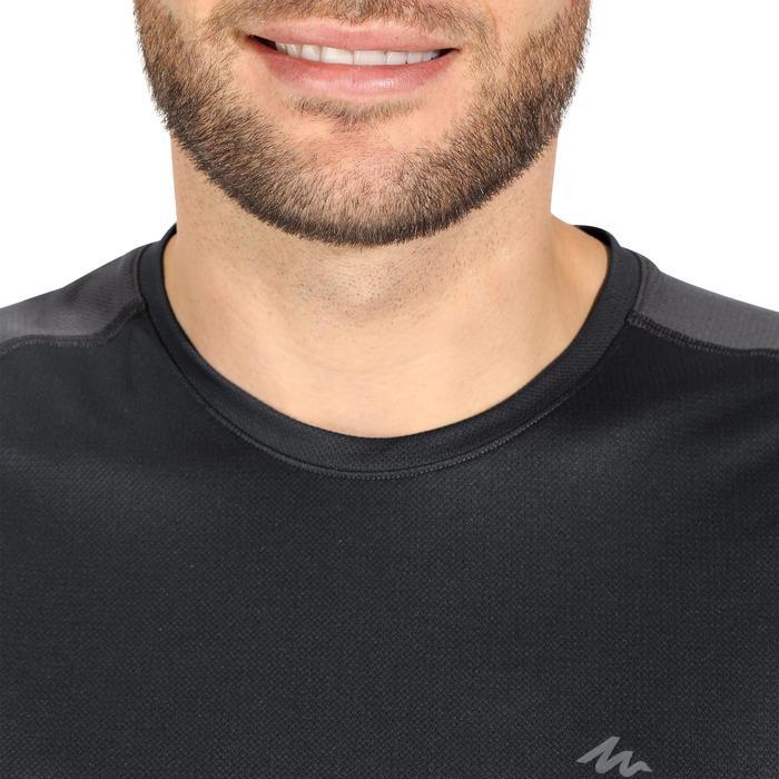 Tee Shirt Manches Courtes Randonnée Tech Fresh 100 homme Gris foncé - 1140284