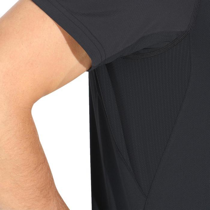 Tee Shirt Manches Courtes Randonnée Tech Fresh 100 homme Gris foncé - 1140287