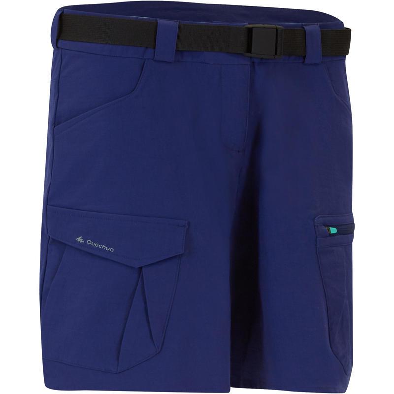 Women's TREK 100 mountain trekking shorts - Blue