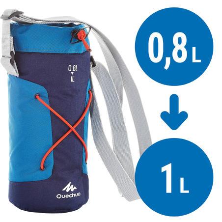 Housse isotherme pour gourde randonnée 0,75 à 1 litre bleu (vieux modèle)