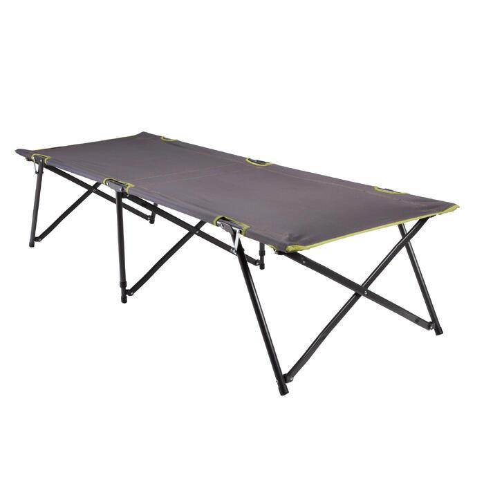 Campingliege L100 klappbar für 1 Person grau